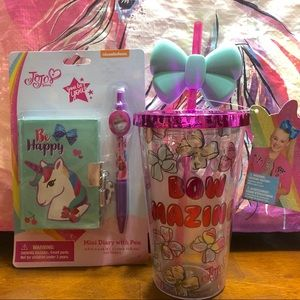 Jojo Siwa Tumbler cup and mini diary & Pen Set